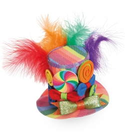 Minihut Candy, (Fascinator) mit 2 Haarclips