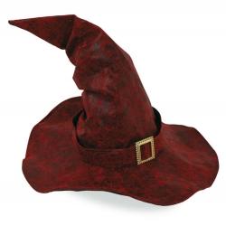 Hexenhut rot - schwarz