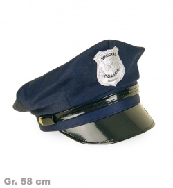 Polizei-Mütze, blau, Gr. 58 cm