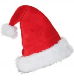 Nikolaus Mütze aus Plüsch