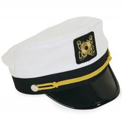 Mütze Admiral, Gr. 55 cm - Gr. 60 cm variabel