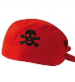 Bandana Pirat mit Totenkopf rot