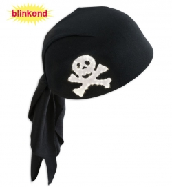 Piraten-Haube blinkend
