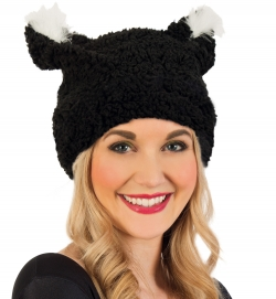 Plüsch-Mütze Katze