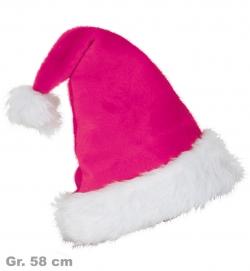 Nikolausmütze pink, Gr. 58 cm