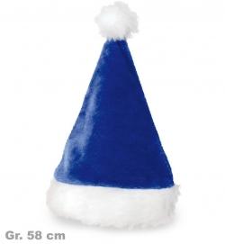 Nikolausmütze blau, Gr. 58 cm