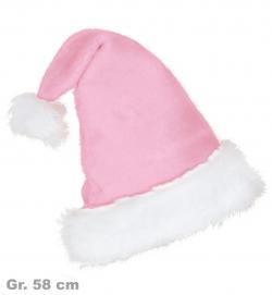 Nikolausmütze edel rosa, Gr. 58 cm
