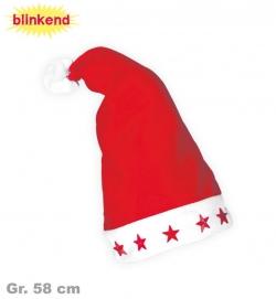 Nikolaus Mütze mit Blinksternen