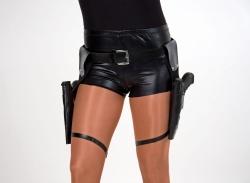 Pistolengürtel mit zwei Taschen