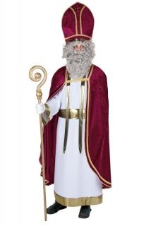 Bischofskleid Albe weiß mit Schärpe