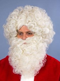 Weihnachtsmann Perücke und Bart im Set flachsblond
