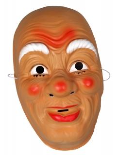 Nikolausmaske Weihnachtsmannmaske Hartplastik
