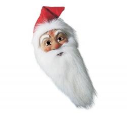Nikolausmaske mit Kapuze aus Waschsamt