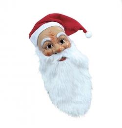 Nikolausmaske mit Flanellmütze