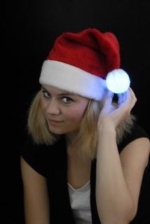 Nikolausmütze mit Leucht-Bommel