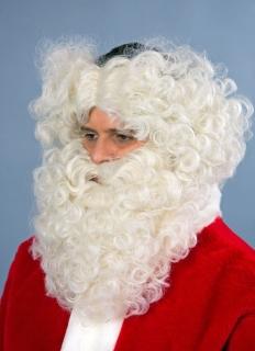Weihnachtsmann Nikolaus Bart mit Stirnband flachsblond