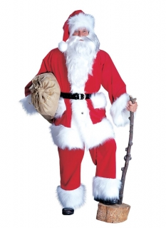 Weihnachtsmannkostüm Kordanzug