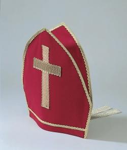 Bischofsmütze Mitra mit Bändern