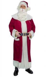 Nikolausmantel weinrot mit Mütze und Gürtel