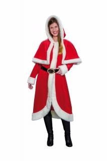 Nikolausmantel für Damen Weihnachtsmantel mit Cape