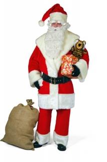 Weihnachtsmann Plüsch Anzug Kostüm