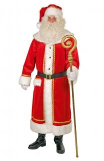 Weihnachtsmann Kostüm Nikolaus Samtmantel