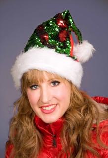 Weihnachtsmann-Mütze mit Wende-Pailletten