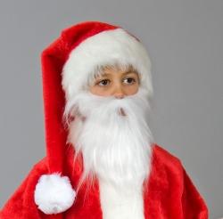 Nikolausplüschbart für Kinder, weiß