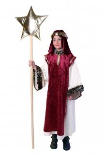 Sternsinger Kostüm: Kleid, Überwurf, Kopftuch Größe 140/152