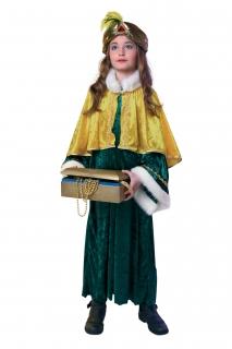 Sternsinger Kostüm: Kleid, Pellerine, Stirnband Größe 140/152