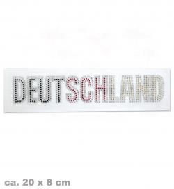 Deutschland Strass-Bügelbild FAN, ca. 20 x 4 cm