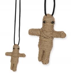 Halskette Voodoo-Puppe, Puppe ca. 75 mm Länge