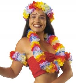 Hawaii-Set  4-tlg. (Stirnband, Kette + 2 Armbänder)
