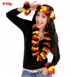 Fan Set Deutschland aus Hawaii Blüten