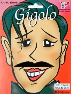 Gigolo Verführer Bart schwarz