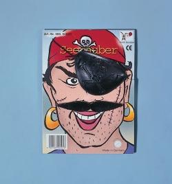 Faschingsbart Pirat mit Augenklappe
