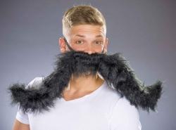 Riesen-Schnurrbart schwarz, formbar