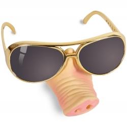Brille mit Schweinenase