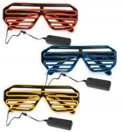LED-Brille coole Leuchtbrille Faschingsbrille
