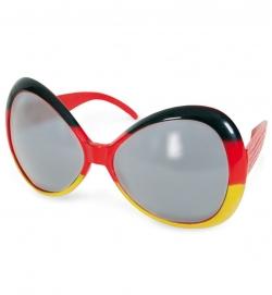 Deutschland Fan Brille stylische übergroße Sonnenbrille