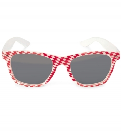 Brille rot-weiss