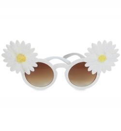 Glitterbrille m.Blume