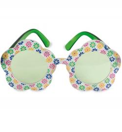 Brille Hippie, mit Blumenrand