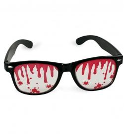 Horror Brille mit Blutspritzern