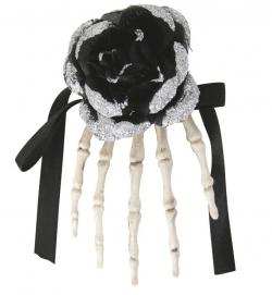 Halloween Kopfschmuck schwarze Rose