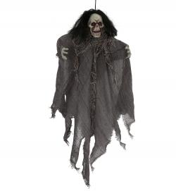 Skelett mit Haaren Halloween Deko Figur Dekohänger