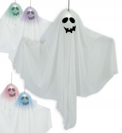 Geist Ghost Halloween Deko Figur Höhe 60 cm farbwechsel