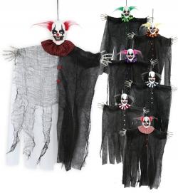 Halloween Horror Skelett Deko Clown Hänger ca. 50cm diverse Farben