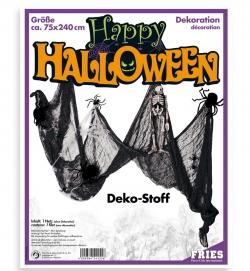 Halloween  Dekostoff schwarz, ca. 75 x 240 cm