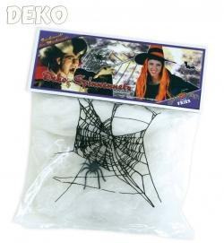Deko-Spinnennetz mit Spinne, ca. 20g